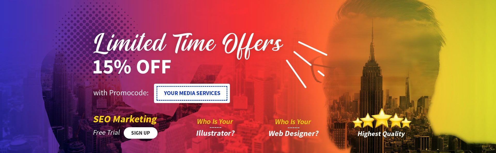 Your Media Services Digital Marketing Services SEO Marketing Homepage Banner
