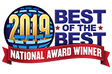 National Award-winning for National Digital Marketing Agency was given ny Best of The Best and this is the badge for 2019