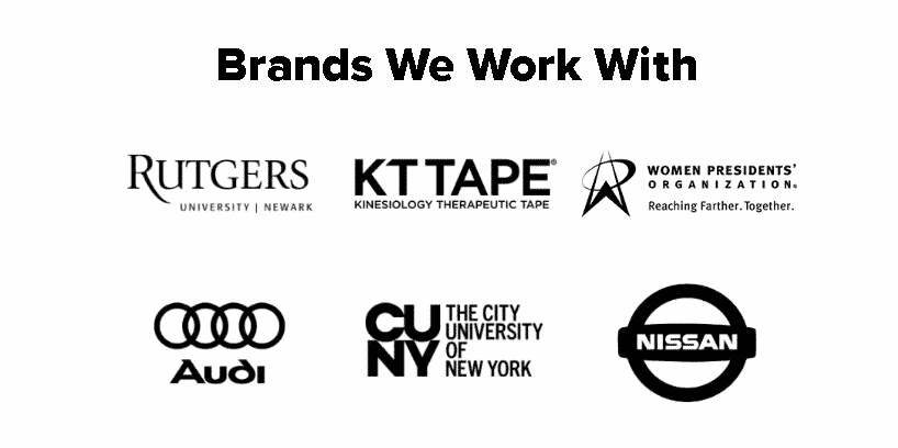 Your Media Services Brand Logos that we have worked with