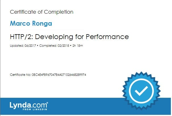 Lynda.com Certification image for Marco Ronga from Your Media Services of - Developing for Performance