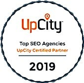 Top SEO Agencies UpCity Certified Patner Your Media Services Transparent Badge