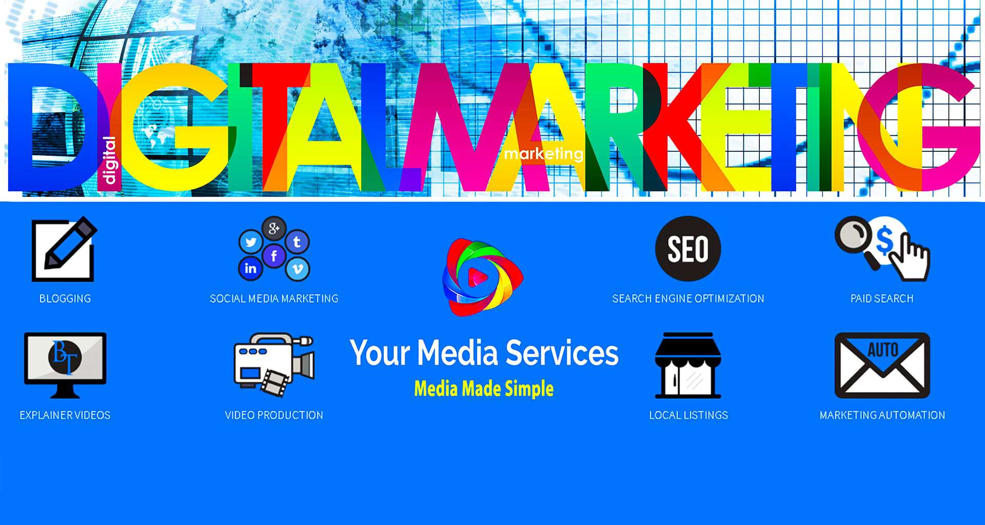 St Pete Full-Service Digital Online Marketing Agency, Your Media is showcasing offerings from blogging to web design