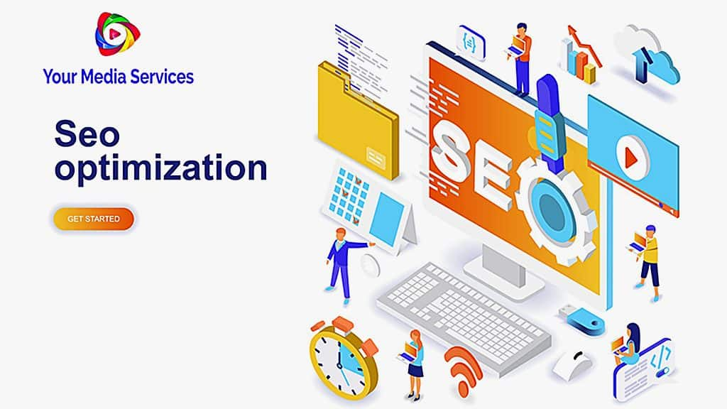 St. Petersburg SEO company image of various SEO services that we are providing search engine optimization services to all Tampa Bay image with links and icons to the the info-graphic nested services