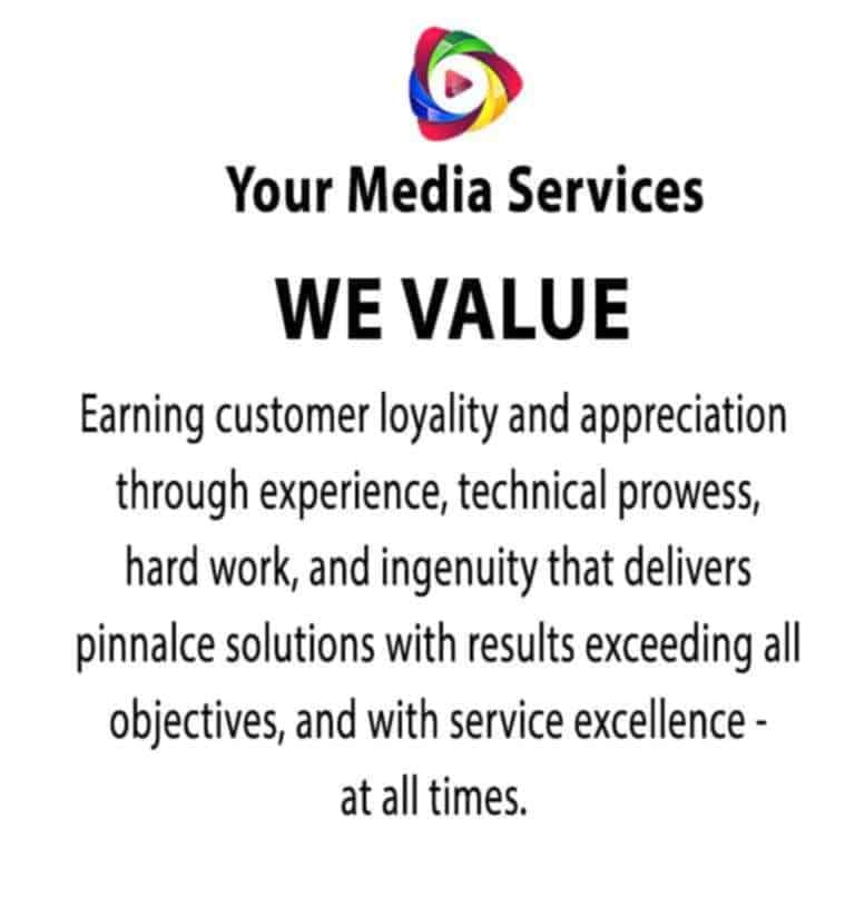 Your Media Services- Our Value Proposition