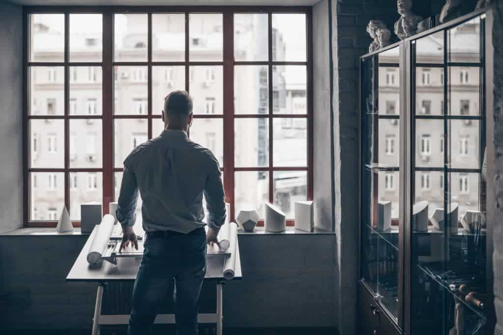 Mature man by the window